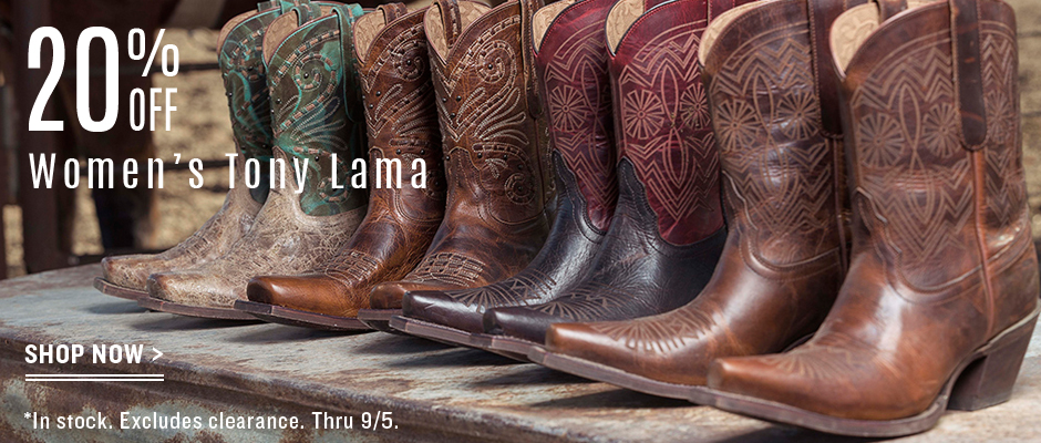 Tony Lama on sale