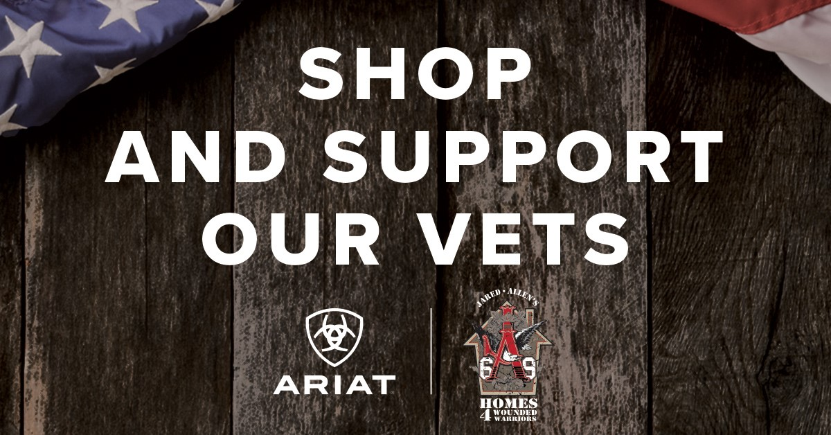 Shop Ariat and Support our Vets