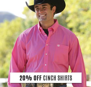 20% Off Cinch Shirts!