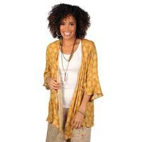 Ivy Jane Women's Mustard Floral Kimono