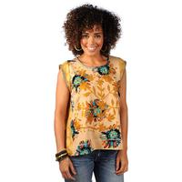 Ivy Jane Women's Mustard Floral Top