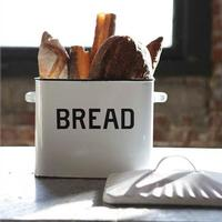 Creative Co-Op White Metal Bread Box