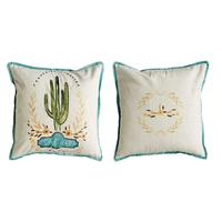 Creative Co-Op Saguaro Cactus Pillow