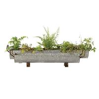Creative Co-Op Footed Metal Planters