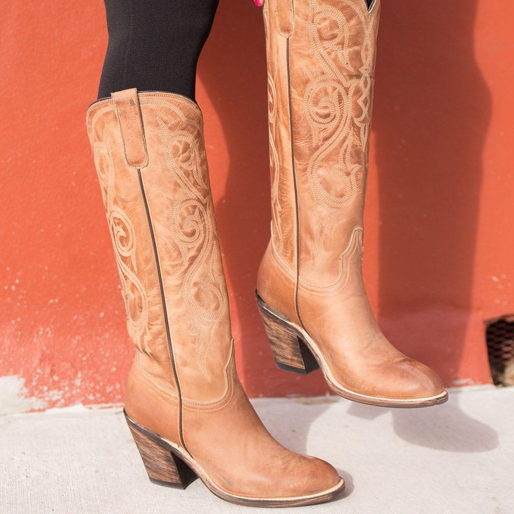 c1be0125719 Lucchese Womens Tan Vanessa Boots