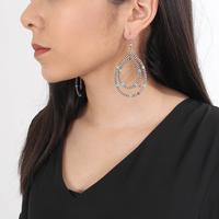 Genuine Silver and Turquoise Teardrop Loop Earrings