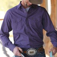 Cinch Men's Purple Points Modern Fit Shirt
