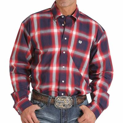 Cinch Men's Bold Large- Plaid Print Shirt