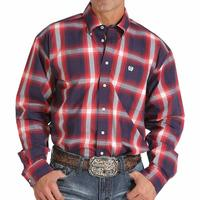 Cinch Men's Bold Large-Plaid Print Shirt