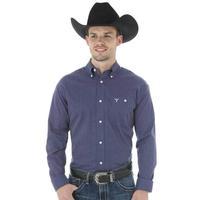Wrangler Men's Navy and White Dot Pattern Shirt