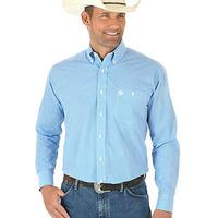 Wrangler Men's Blue and White Small Circle Pattern