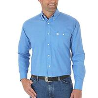 Wrangler Men's Blue Diamond-Print Shirt