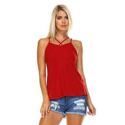 Corner Women's Criss Cross Tank Top RED