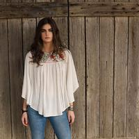 Double D Ranchwear Women's Porcelain Pagoda Top