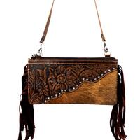 Montana West's Leather Fringe Clutch