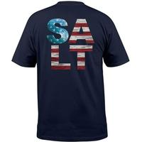 Salt Life Men's Short Sleeve Navy American Salt Tee