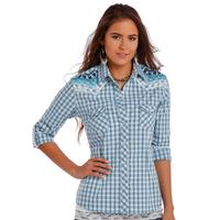 Panhandle Slim Ladies Roll Tab Sleeve and Front Embroidery Shirt