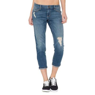 Cello Women's Vintage Boyfriend Crop Jeans