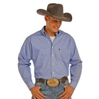 Panhandle Slim Men's Long Sleeve Blue Tuff Cooper Button Down Shirt