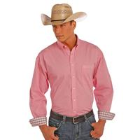 Panhandle Slim Men's Long Sleeve Pink Button Down Shirt