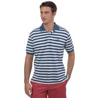 Southern Tide Men's Short Sleeve Blue Skipjack Skipper Stripe Polo