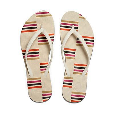 Reef Woman's Cream Stripes Reef Escape Prints Sandals