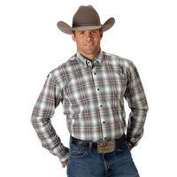 Roper Men's Plaid Long Sleeve Button Down Shirt