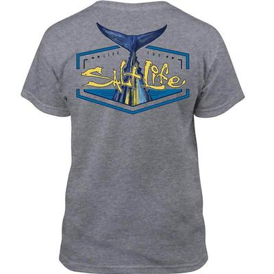 Salt Life Boy's Grey Tuna Tail Short Sleeve Tee