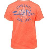 Salt Life Girl's Livin Salty Turtle Short Sleeve Tee CRLHT