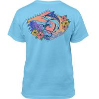 Salt Life Boy's Blue Marlin Waves Short Sleeve Tee