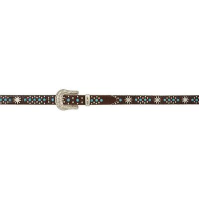 3d Girl's Brown Gator With Turquoise Belt