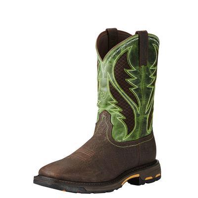 Ariat Men's Bruin Brown Workhog Comp Toe Boots