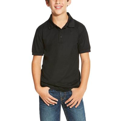 Ariat Boy's Black Tek Polo