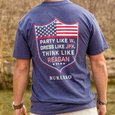 Burlebo Men's Party Like W Navy T- Shirt