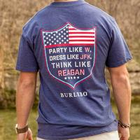 Burlebo Men's Party Like W Navy T-Shirt