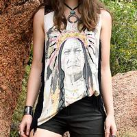 Double D Ranchwear Women's Chief Sitting Bull Tank