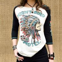 Double D Ranchwear Women's Night Bird Motel Top