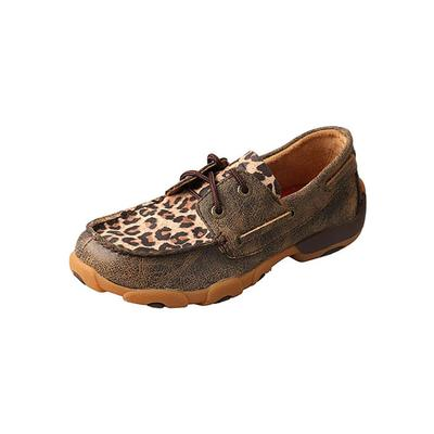 Twisted X Girl's Leopard Print Driving Moccasins