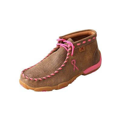 Twisted X Girl's Pink Whip Lace Driving Moccasins