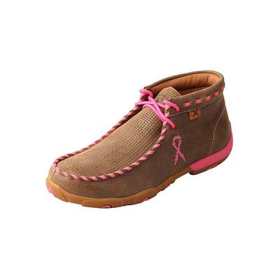 Twisted X Women's Pink Whip Lace Driving Moccasins