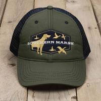 Southern Marsh Men's Hunting Dog Trucker Hat DKOLIVE
