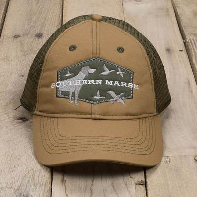 Southern Marsh Men's Hunting Dog Trucker Cap KHAKI