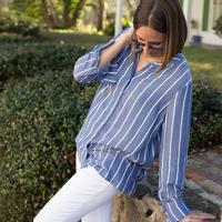 Black Tape Women's Long Sleeve Stripe Top