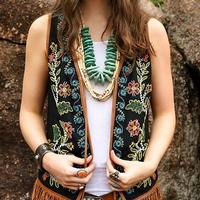 Double D Ranchwear Women's Buffalo Grass Vest