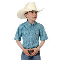 Roper Boy's Turquoise Prairie Wind Shirt