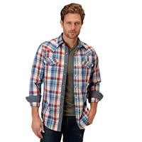 Roper Men's Highway Plaid Snap Shirt