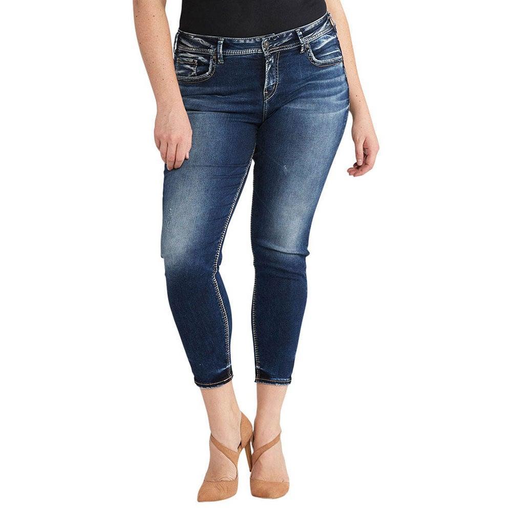 Silver Jeans Women's Plus Size Avery Ankle Skinny Jean | D&D