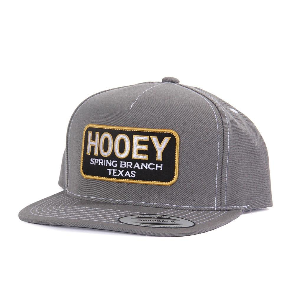 buy online 7b559 147a9 Hooey Men s Gray 5 Panel Snapback Cap