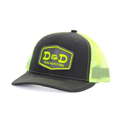 3fa846087c8 D D Texas Outfitters Charcoal   Neon Yellow Cap