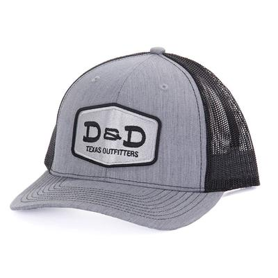 D & D Texas Outfitters Heather Grey And Black Cap